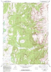 7.5' Topo Map of the Kendall Mountain, WY Quadrangle