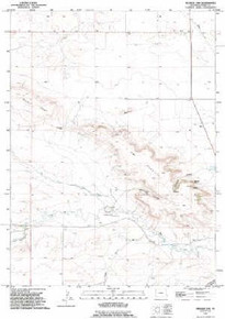 7.5' Topo Map of the Kessler Gap, WY Quadrangle