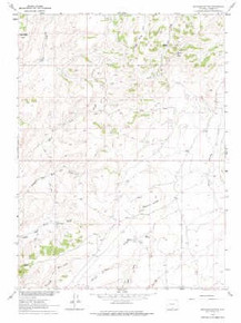 7.5' Topo Map of the Ketchum Buttes, WY Quadrangle
