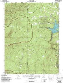 7.5' Topo Map of the Keystone, WY Quadrangle