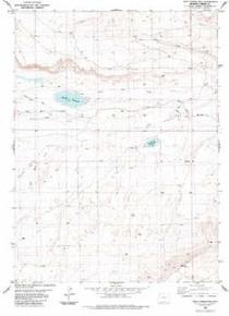 7.5' Topo Map of the Kindt Reservoir, WY Quadrangle