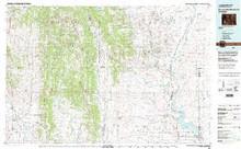 USGS 30' x 60' Metric Topographic Map of Fontenelle Reservoir, WY Quadrangle
