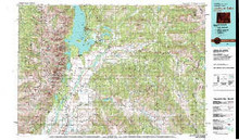 USGS 30' x 60' Metric Topographic Map of Jackson Lake, WY Quadrangle