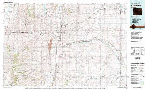 Kemmerer Wyoming Map.Usgs 30 X 60 Metric Topographic Map Of Kemmerer Wy Quadrangle