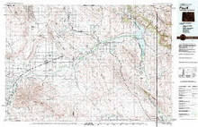 USGS 30' x 60' Metric Topographic Map of Powell, WY Quadrangle