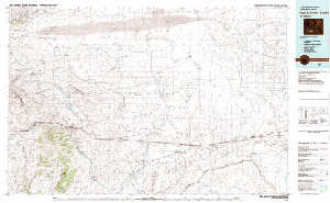 Usgs 30 X 60 Metric Topographic Map Of Red Desert Basin Wy