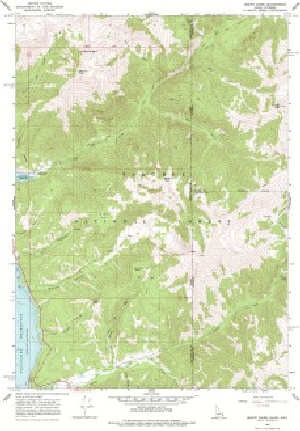 7.5\' Topo Map of the Mount Baird, ID Quadrangle