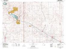 USGS 30' x 60' Metric Topographic Map of Torrington, WY Quadrangle