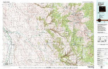 USGS 30' x 60' Metric Topographic Map of Worland, WY Quadrangle