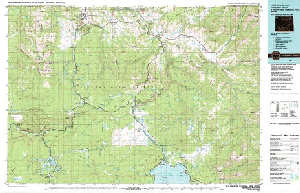 Topographic Map Of Yellowstone.Usgs 30 X 60 Metric Topographic Map Of Yellowstone Park N Wy