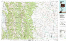 USGS 30' x 60' Metric Topographic Map of Afton, WY Quadrangle