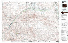 USGS 30' x 60' Metric Topographic Map of Basin, WY Quadrangle