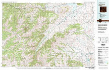 USGS 30' x 60' Metric Topographic Map of Carter Mountain, WY Quadrangle