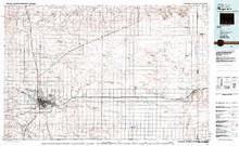USGS 30' x 60' Metric Topographic Map of Cheyenne, WY Quadrangle