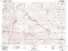 USGS 30' x 60' Metric Topographic Map of Chugwater, WY Quadrangle