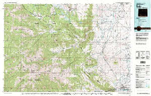 Usgs 30 X 60 Metric Topographic Map Of Cody Wy Quadrangle Wsgs