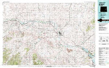 USGS 30' x 60' Metric Topographic Map of Douglas, WY Quadrangle