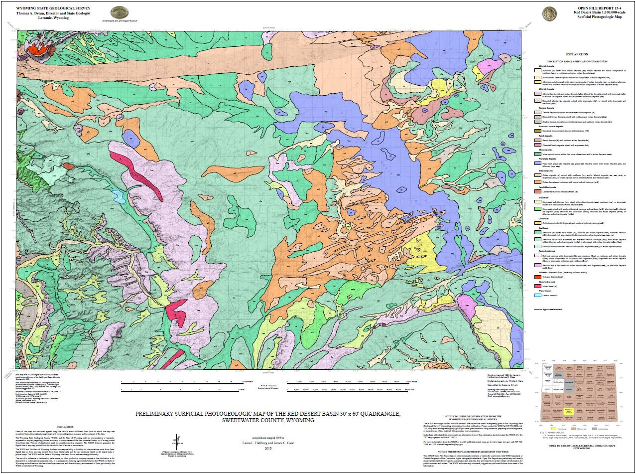 Preliminary Surficial Photogeologic Map Of The Red Desert Basin 30