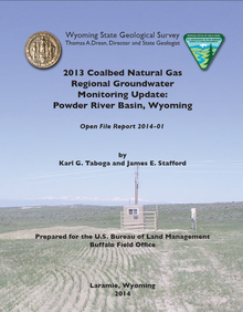 2013 Coalbed Natural Gas Regional Groundwater Monitoring Update: Powder River Basin, Wyoming (2014)