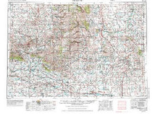 USGS 1° x 2° Area Map Sheet of Arminto, WY Quadrangle