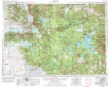 USGS 1° x 2° Area Map Sheet of Ashton, ID Quadrangle