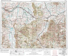 USGS 1° x 2° Area Map Sheet of Bozeman, MT Quadrangle