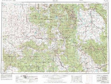 USGS 1° x 2° Area Map Sheet of Craig, CO Quadrangle