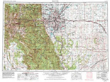 USGS 1° x 2° Area Map Sheet of Denver, CO Quadrangle