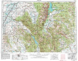 Usgs 1 X 2 Area Map Sheet Of Driggs Id Quadrangle Wsgs Product