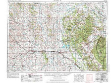 USGS 1° x 2° Area Map Sheet of Gillette, WY Quadrangle