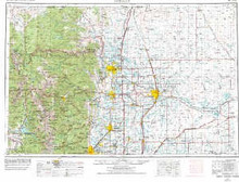 USGS 1° x 2° Area Map Sheet of Greeley, CO Quadrangle