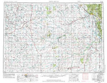 USGS 1° x 2° Area Map Sheet of Newcastle, WY Quadrangle