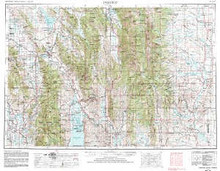 USGS 1° x 2° Area Map Sheet of Preston, ID Quadrangle