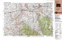 USGS 1° x 2° Area Map Sheet of Rawlins, WY Quadrangle