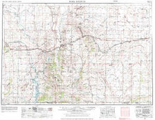 USGS 1° x 2° Area Map Sheet of Rock Springs, WY Quadrangle