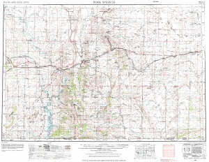 Rock Springs Wyoming Map.Usgs 1 X 2 Area Map Sheet Of Rock Springs Wy Quadrangle Wsgs