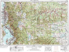 USGS 1° x 2° Area Map Sheet of Salt Lake Cty, UT Quadrangle