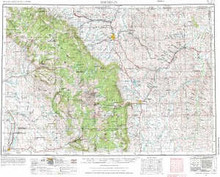USGS 1° x 2° Area Map Sheet of Sheridan, WY Quadrangle