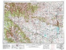 USGS 1° x 2° Area Map Sheet of Thermopolis, WY Quadrangle