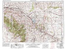 USGS 1° x 2° Area Map Sheet of Torrington, WY Quadrangle
