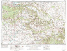 USGS 1° x 2° Area Map Sheet of Vernal, UT Quadrangle