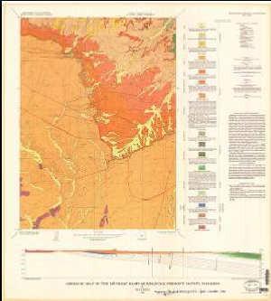 Geologic Map Of The Muskrat Basin Quadrangle Fremont County