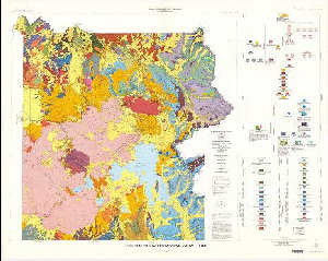 Geologic map of Yellowstone National Park