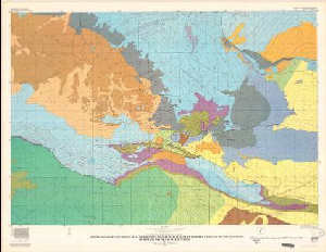 Wind River Range Wyoming Map.Geologic Map And Sections Showing Areal Distribution Of Tertiary