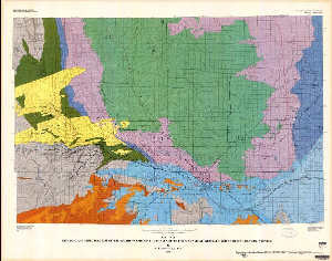 Powder River Wyoming Map.Geologic And Structure Map Of The Southern Part Of The Powder River