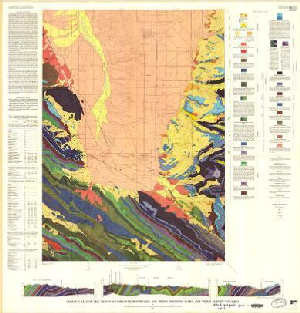 Geologic Map Of The Driggs Quadrangle Bonneville And Teton Counties