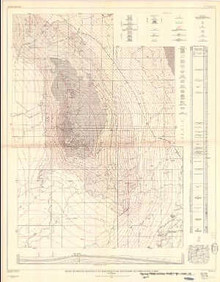 Geologic and Structure Contour Map of the Tisdale Anticline and Vicinity, Johnson and Natrona Counties, Wyoming