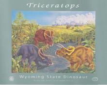 Wyoming State Dinosaur - Triceratops (poster) (1995)