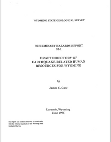 Draft Directory of Earthquake-Related Human Resources for Wyoming (1995)