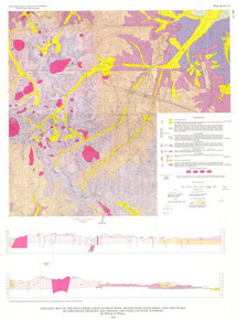 Geologic Map of the Dick Creek Lakes, Dunrud Peak, Francs Peak, Noon Point, and Twin Peaks Quadrangles, Fremont, Hot Springs, and Park Counties, Wyoming (1982)